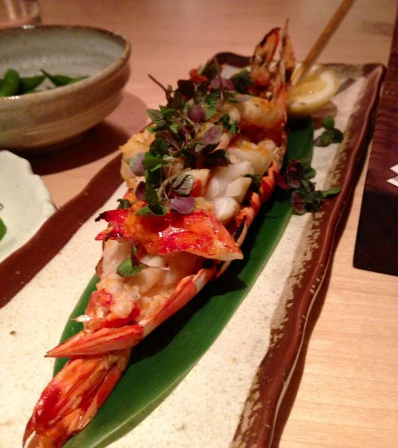 Madagascan tiger prawn at Roka Akor