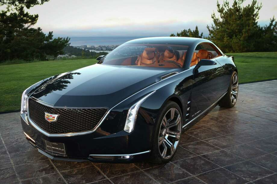 "Cadillac reveals the Elmiraj Concept Thursday, August 15, 2013 in Carmel, California. The concept is lightweight, agile and 205-inches in length. It is powered by a 4.5-liter twin turbocharged V8 delivering an estimated 500 hp. Photo: Cadillac News Photo / © 2013 General Motors. This image is protected by copyright but provided for use under a Creative Commons 3.0 License for the purpose of editorial comment only. The use of this image for advertising, marketing, or any other commercial purposes is prohibited. This image can be cropped, but may not be altered in any other way, and each should bear the credit line ""© GM Company."" General Motors makes no representations with respect to the consent of those persons appearing in these photos, or with regard to the use of names, trademarks, trade dress, copyrighted designs or works of art or architecture that are not the intellectual property of General Motors Company."