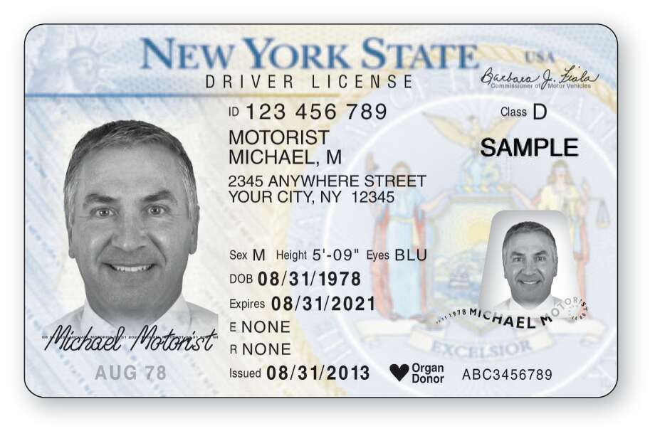 A  sample provided by the state Department of Motor Vehiclesof the regular license issued to motorists over age 21.