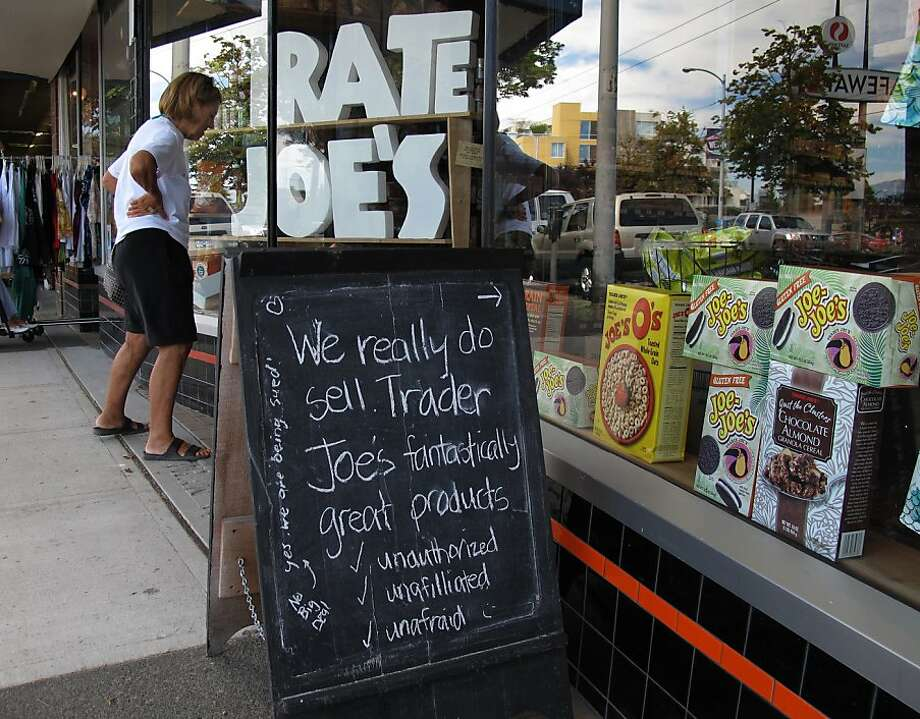 Customer checks out the goods at Pirate Joe's in Vancouver. Photo: Paul Chinn, The Chronicle