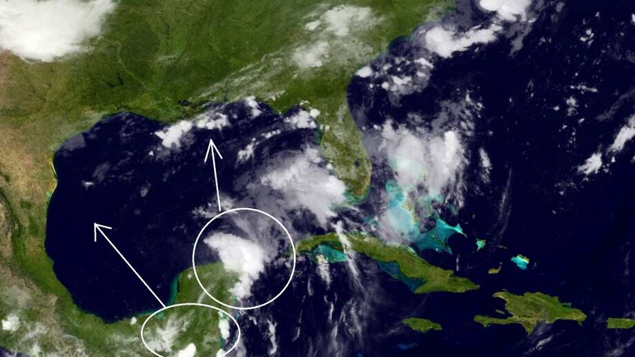 Invest 92L may be breaking into two separate chunks. (NOAA) Photo: NOAA