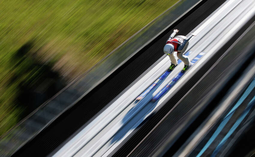 Roberta D Agostina of Italy competes the FIS Ski Jumping Grand Prix Womens Normal Hill Individual Final on August 15, 2013 in Courchevel, France.