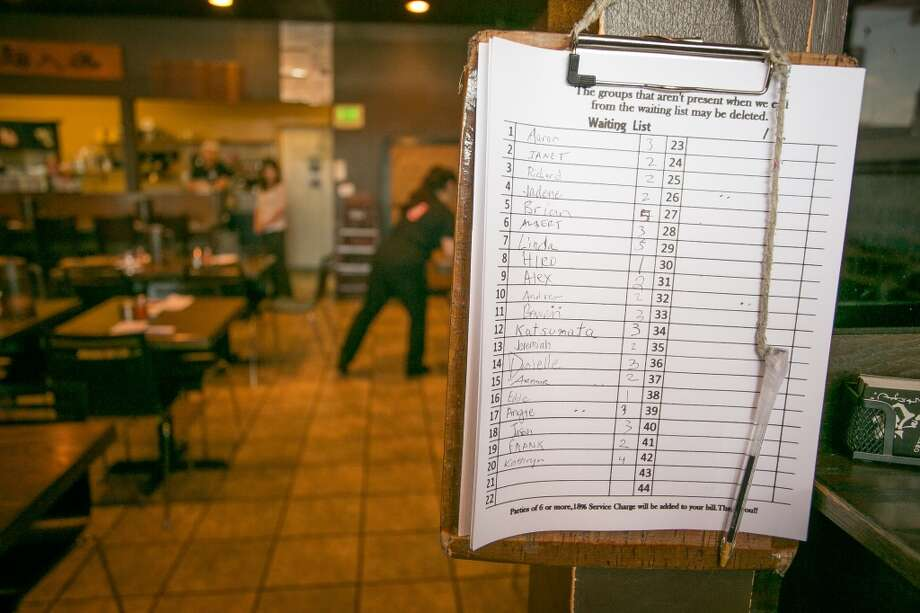 The waiting list at Orenchi Ramen in Santa Clara. Photo: John Storey, Special To The Chronicle