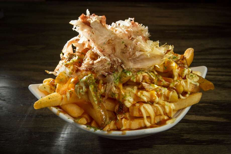 French fries okonomiyaki-stye ($5.80) at Orenchi. Photo: John Storey, Special To The Chronicle