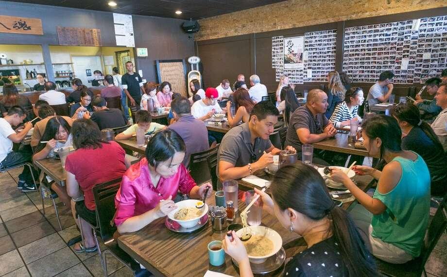 People enjoy lunch at Orenchi Ramen in Santa Clara. Photo: John Storey, Special To The Chronicle