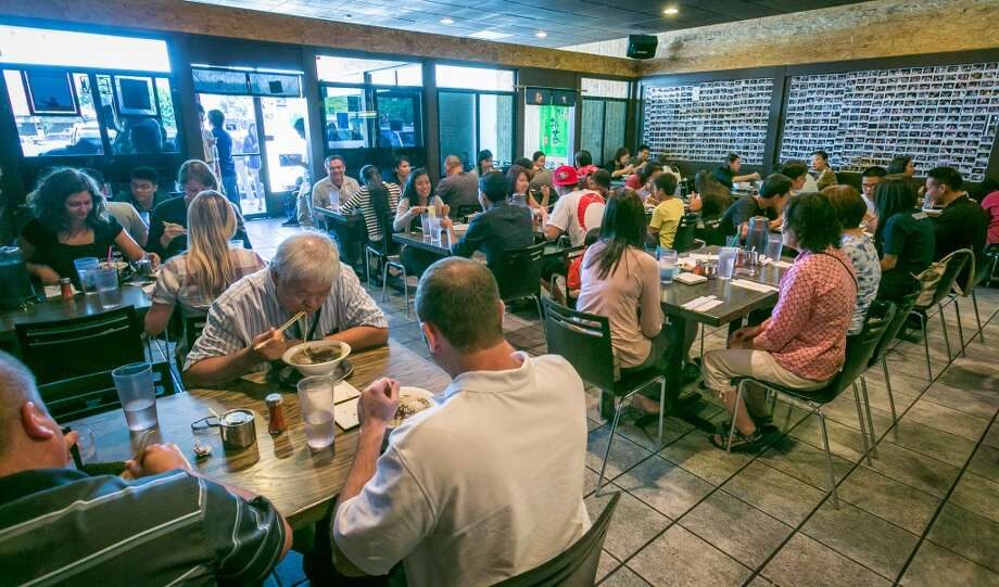 People enjoy lunch at Orenchi Ramen in Santa Clara. Photo: John Storey, Special To The Chronicle