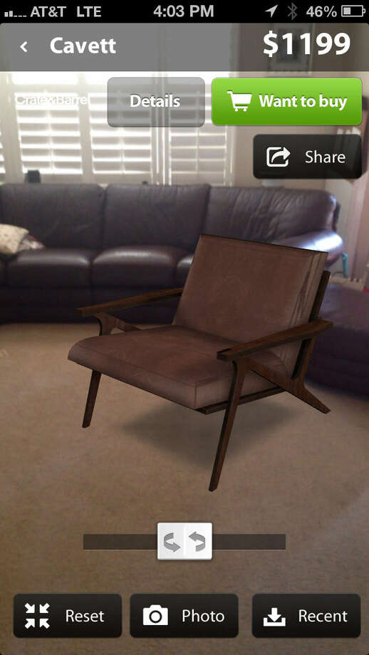 Use the Furnish app to shop home furnishings stores. Photo: Washington Post Photos