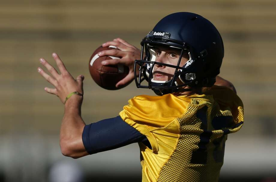 Jared Goff (16) throws during practice at Memorial Stadium in Berkeley on Monday, August 5, 2013 in Berkeley, Calif. Photo: Beck Diefenbach, Special To The Chronicle
