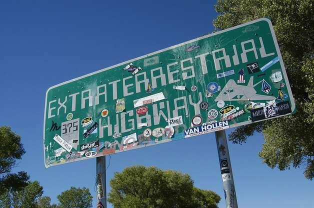 Extraterrestrial highway sign highway 375 near area 51 near rachel