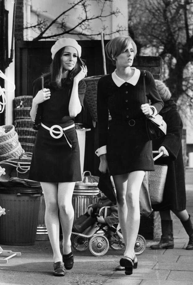 February 29, 1968: Shoppers epitomizing the fashion of the late 1960's. Photo: Roy Jones, Getty Images