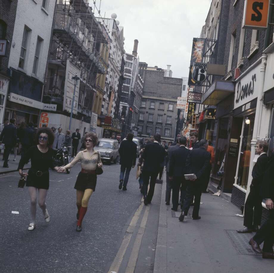 Shoppers on Carnaby Street in London, circa 1968. Photo: Michael Putland, Getty Images