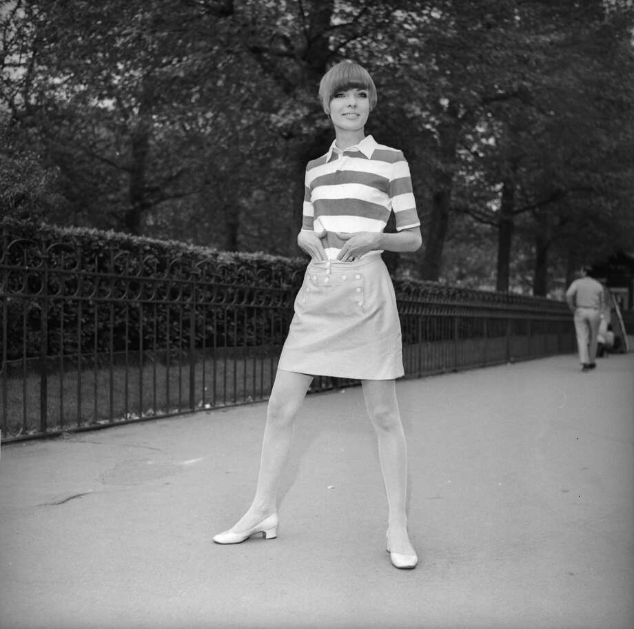 Girl in a miniskirt in France at the end of the 1960's. Photo: J. Cuinieres, Roger Viollet/Getty Images
