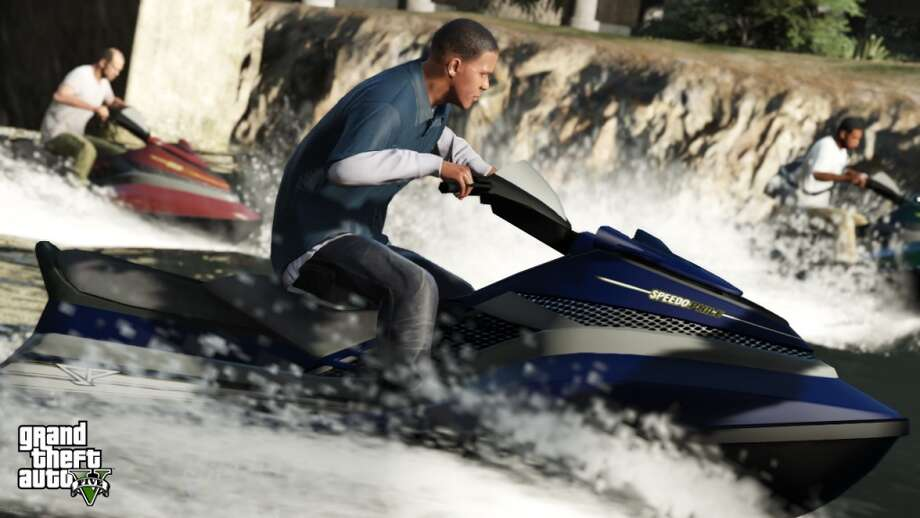 Get there however you want. The GTA series has always offered a plethora of vehicles to helm, and V is no exception. Now you can get around in jet skis, ATVs, and even military helicopters.