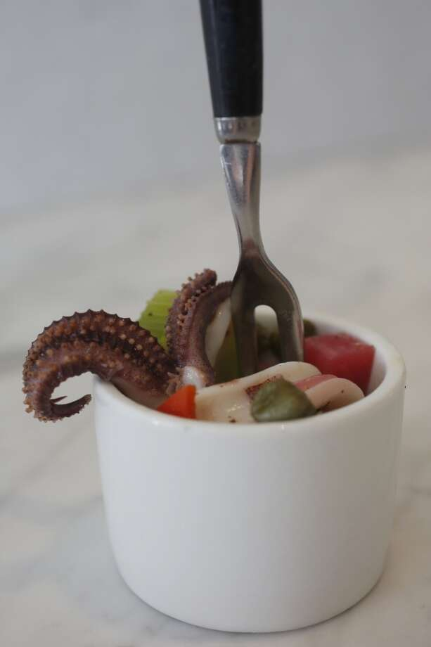 The Insalata Di Calamari. Photo: Ian C. Bates, The Chronicle