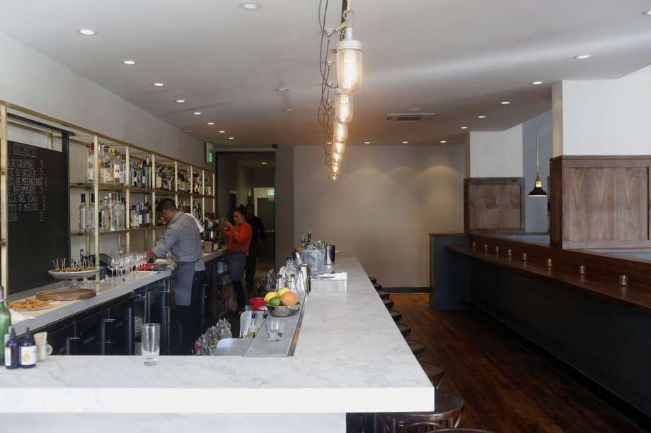 The bar at Pesce's new location on Market Street in San Francisco. Photo: Ian C. Bates, The Chronicle