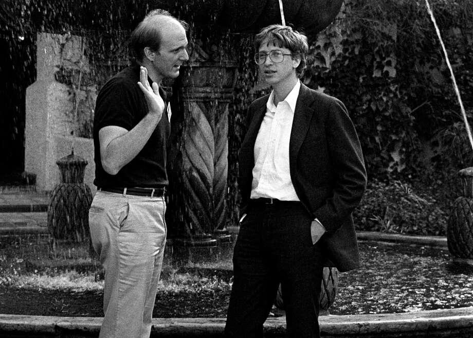 Current Microsoft CEO Steve Ballmer, shown here with Bill Gates in 1986. Photo: Ann Yow-Dyson/Getty Images / Photo by Ann Yow-Dyson, all rights reserved