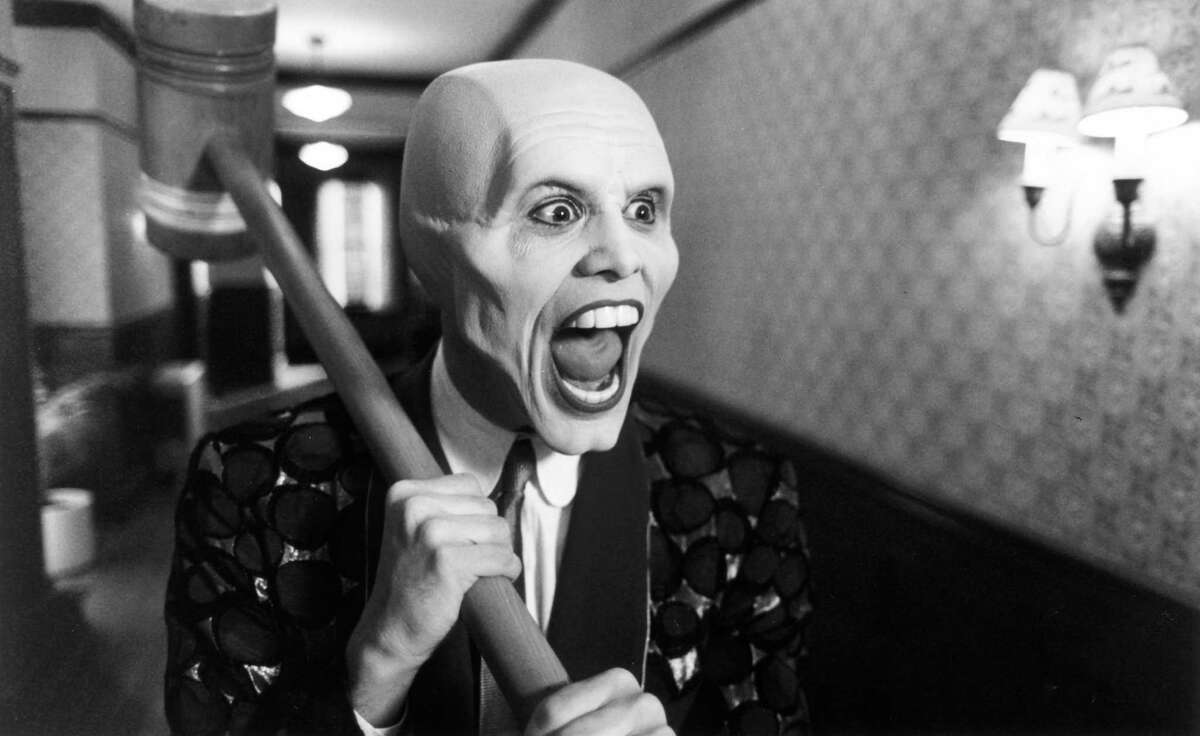 """Jim Carrey pushed the limits in the cartoony comedy """"The Mask."""""""
