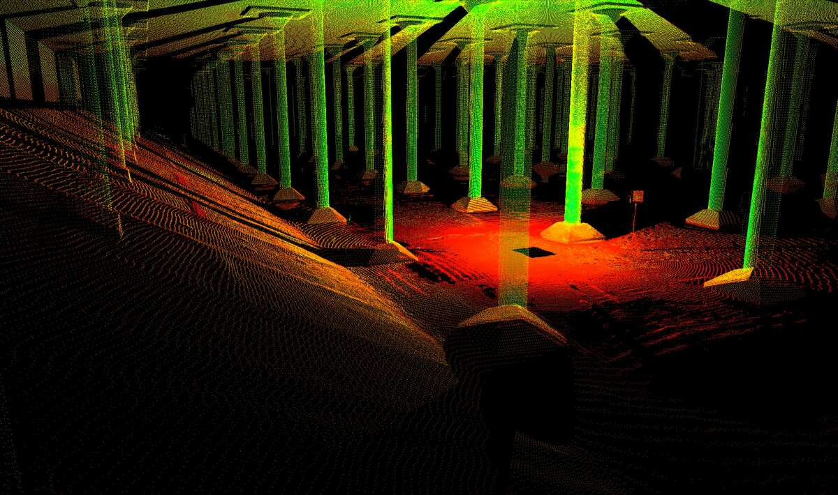 SmartGeometrics used laser scans of the reservoir to create video-game-like 3-D images.