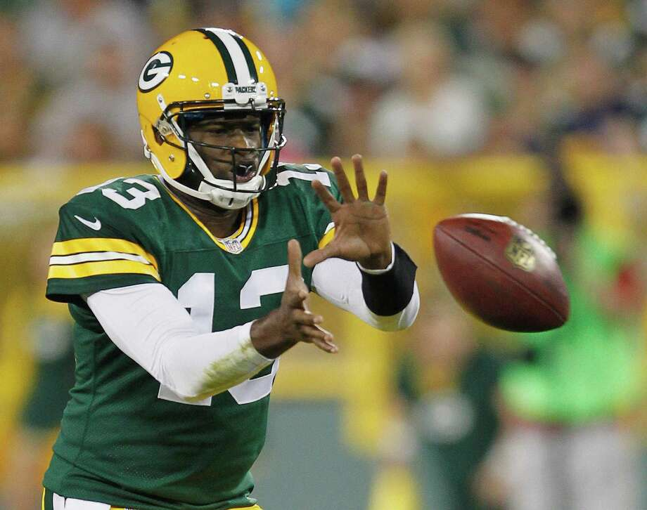 Green Bay Packers' Vince Young during the second half of a preseason NFL football game against the Arizona Cardinals Friday, Aug. 9, 2013, in Green Bay, Wis. The Cardinals won 17-0. (AP Photo/Mike Roemer) Photo: Mike Roemer, Associated Press / FR155603 AP