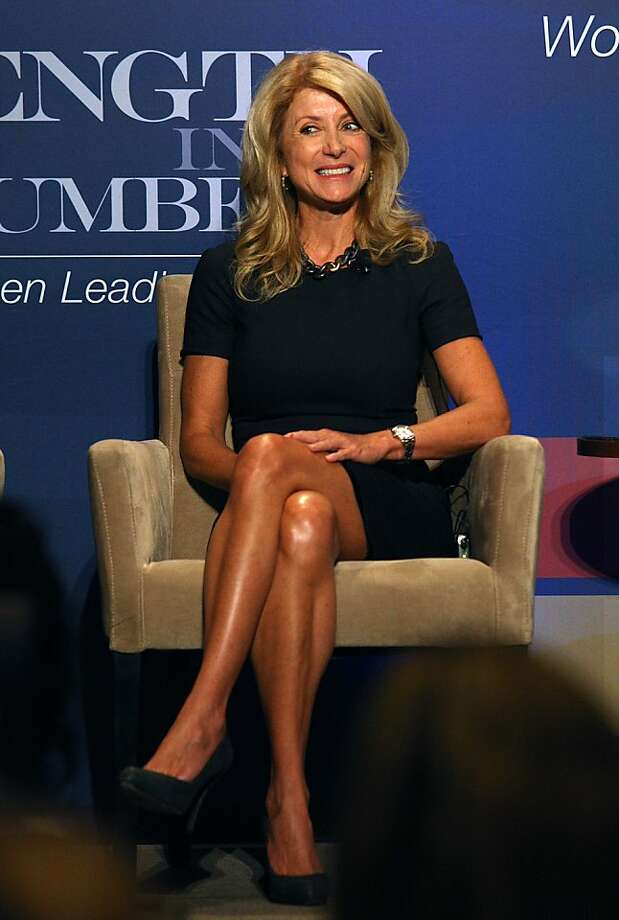 Texas state senator Wendy Davis speaks as a panelist at an EMILY's List luncheon at the Fairmont hotel in San Francisco, Calif., on Friday, August 16, 2013. Photo: Liz Hafalia, The Chronicle