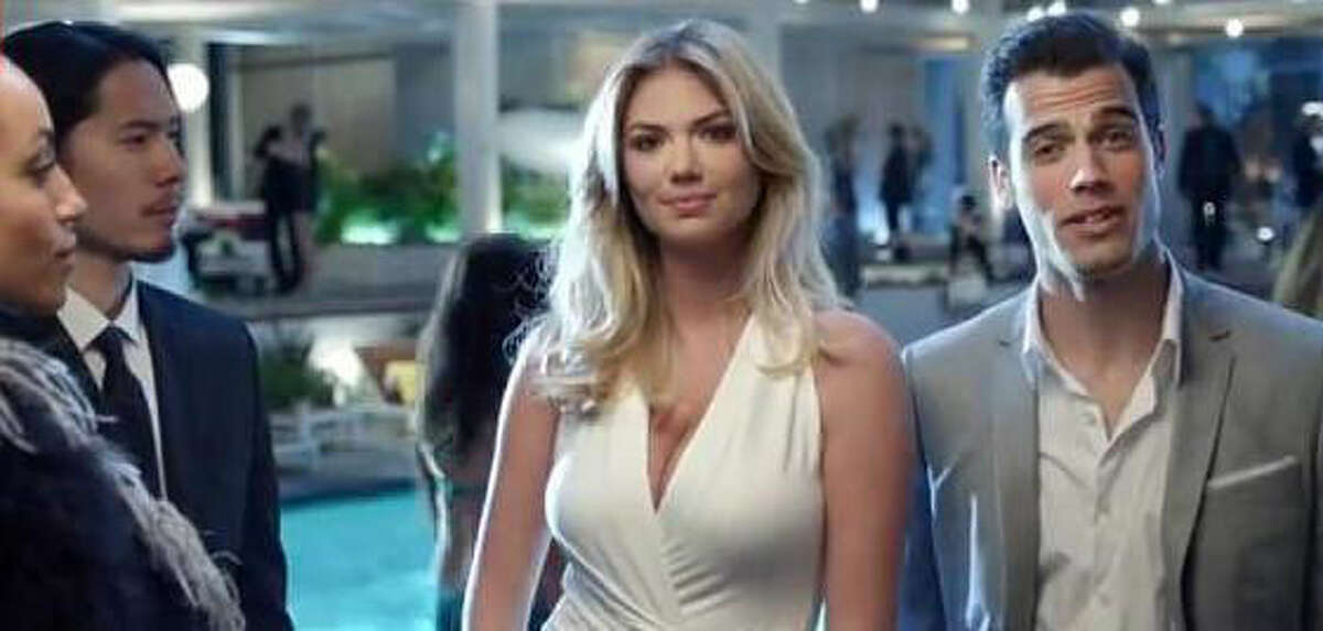 Kate Upton (with Mr. Close Shave, though he doesn't show his chest) in Gillette's What Women Want advertising campaign.