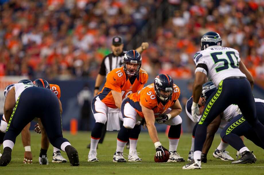 Five things to watch: Broncos at Seahawks (preseason)Aug. 17 (Saturday) | 7 p.m. PDT | CenturyLink Field | TV: Q13 Fox, NFL NetworkSeahawks fans get their first opportunity to clear their throats as the Denver Broncos travel to CenturyLink Field to take on the Hawks -- and the 12th man -- in each team's second preseason game Saturday night.  The teams last met in Denver almost exactly a year ago, when Russell Wilson completed 10 of 17 passes for  155 yards and two touchdowns,  staking his claim to the starting quarterback job in a 30-10 Seattle win in Peyton Manning's first home start for the Broncos.  That game, where the Seahawks reserves outscored Denver 21-0, mirrored last week's effort against the Chargers in San Diego. After a fairly pedestrian performance by the starters, Pete Carroll's squad showed off their depth, scoring 24 points in the second half en route to a 31-10 victory.  Seattle's starters should see a little more action this weekend at home, but the story lines to watch will be the various depth chart battles all along the roster. Click through the gallery for the five we're most interested in Saturday night.   Photo: Justin Edmonds, Getty Images