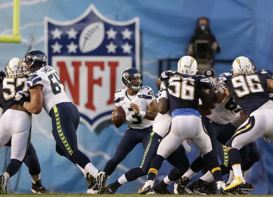 1. The starters  Wilson played only two series last week, completing 2 of 6 passes for just 23 yards. Sidney Rice and Golden Tate had one catch between them. Marshawn Lynch carried the ball exactly zero times. They all should see a little more game action against Denver before the real dress rehearsal next week at Green Bay.    Photo: Gregory Bull, AP
