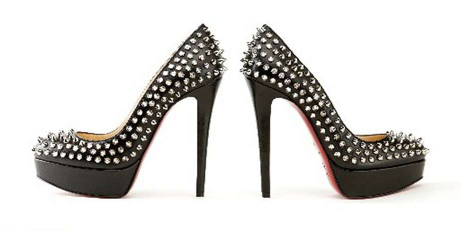 Christian Louboutin studded stilettos,  $1,295, Barneys New York, S.F. Photo: Russell Yip, The Chronicle