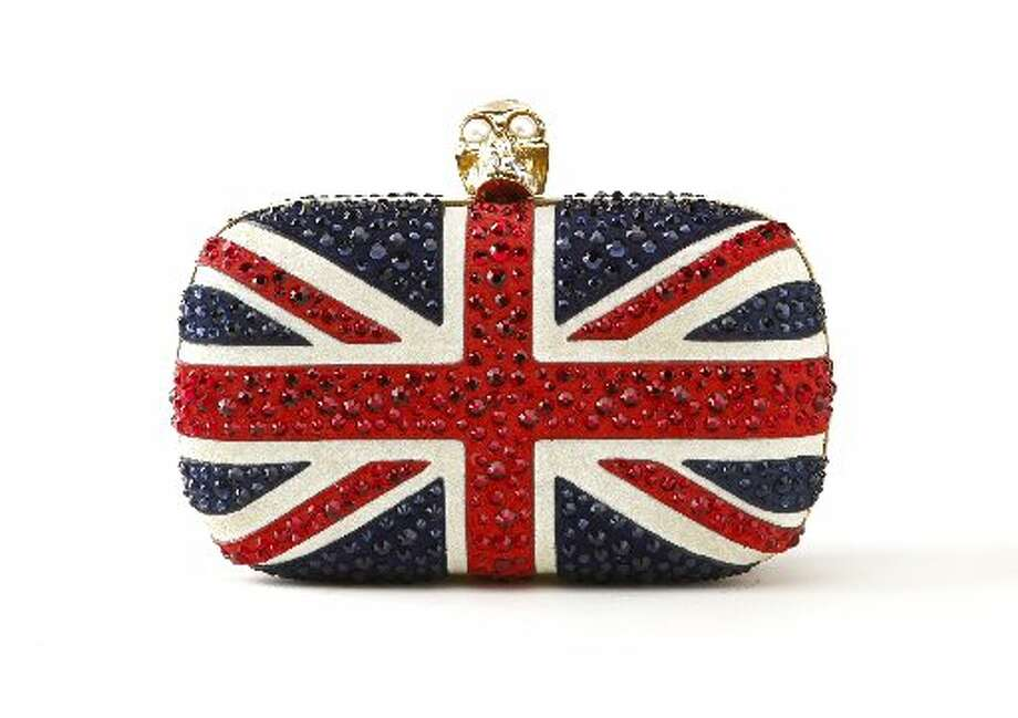 Alexander McQueen Union Jack minaudiere, $2,295, Saks Fifth Avenue. Photo: Russell Yip, The Chronicle