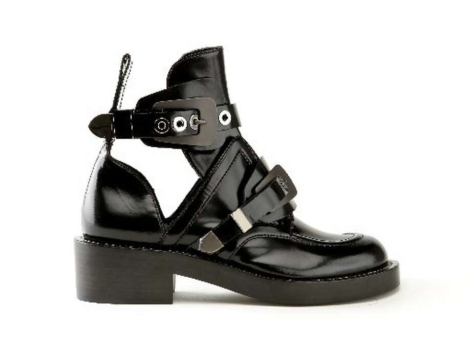 Balenciaga buckle strap shoe, $1,275, Barneys. Photo: Russell Yip, The Chronicle