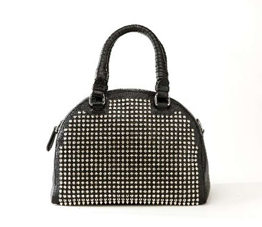 Christian Louboutin studded bowler bag, $2,195, Neiman Marcus. Photo: Russell Yip, The Chronicle