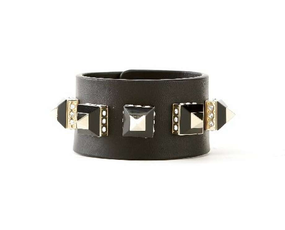 Givenchy pyramid stud leather cuff, $975, Barneys. Photo: Russell Yip, The Chronicle