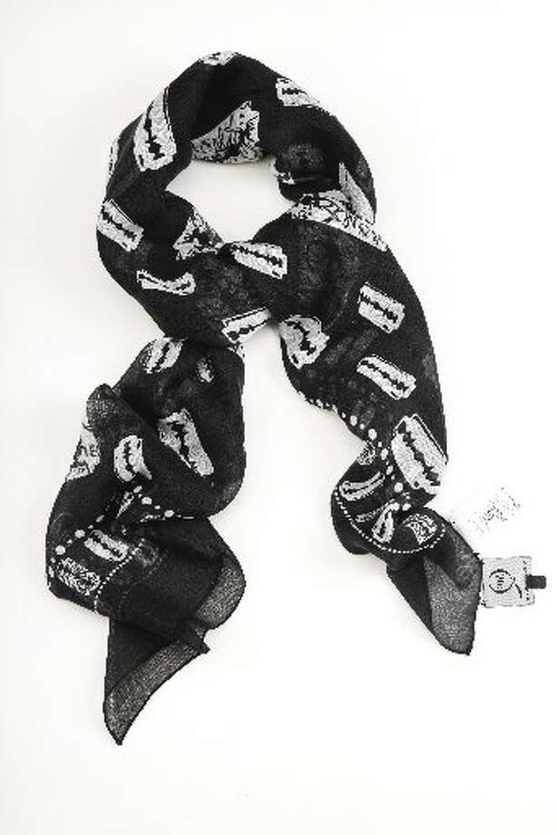 Alexander McQueen razor blade scarf, $235, Saks Fifth Avenue. Photo: Russell Yip, The Chronicle