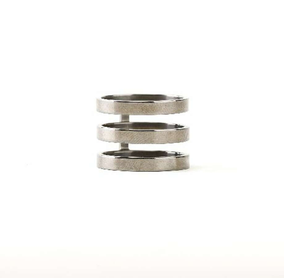 Repossi triple band ring, $700, Barneys. Photo: Russell Yip, The Chronicle