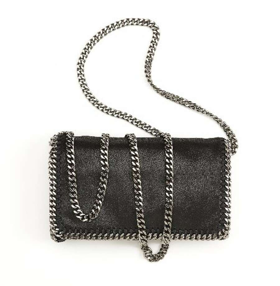 Stella McCartney metallic chain strap bag, $895, Barneys New York. Photo: Russell Yip, The Chronicle