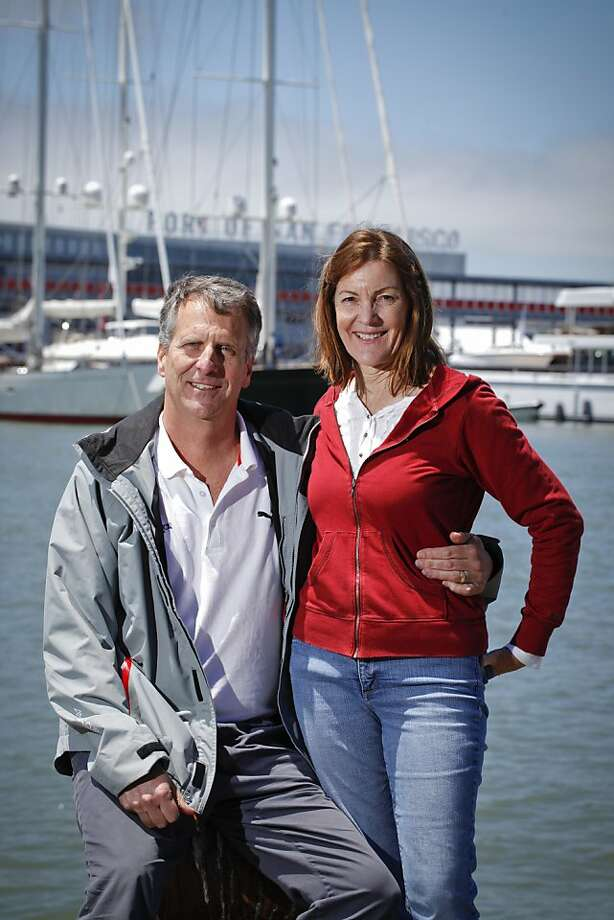 Stan and Sally Honey are seen at Pier 23 in San Francisco, Calif., on Friday, July 12, 2013.  Stan is the director of technology for the America's Cup even authority, and Sally is an accomplished sailor. Photo: Russell Yip, The Chronicle