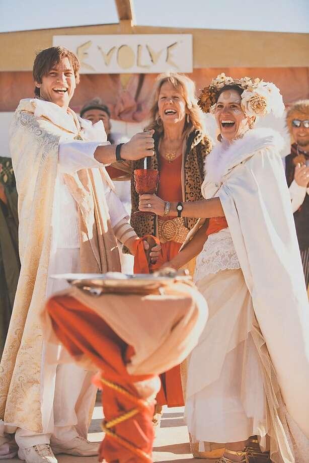 This year, Tony Brasunas and Pamela Mendoza will celebrate their honeymoon at Burning Man. Photo: Courtesy Tony Brasunas, Art Of 2 Designs
