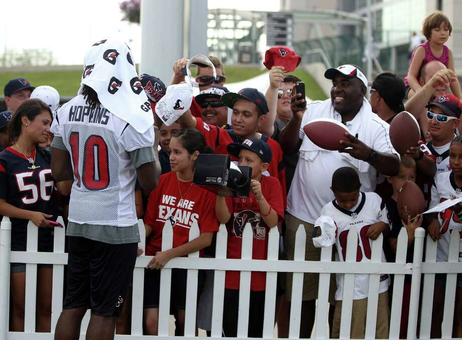 Rookie wide receiver DeAndre Hopkins (10) hasn't been in Houston long but he is a big hit with Texans fans. Photo: Karen Warren, Staff / © 2013 Houston Chronicle