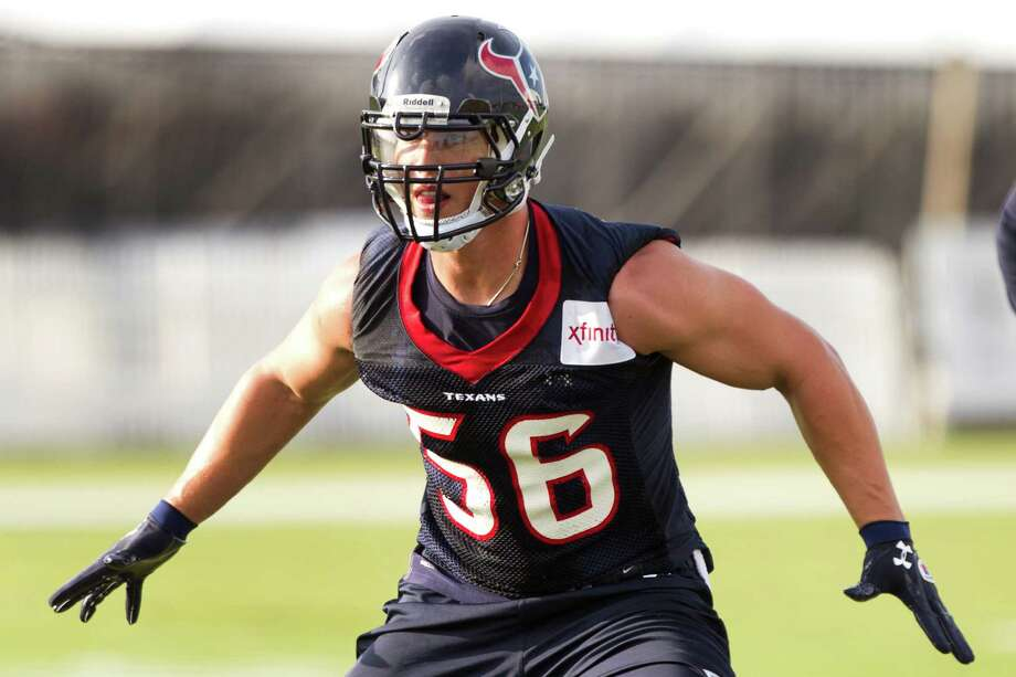 Linebacker Brian Cushing will play Saturday for the first time since tearing his anterior cruciate ligament in the fifth game last season. If Cushing stays healthy, the Texans' defensive fortunes should improve significantly. Photo: Brett Coomer, Staff / © 2013 Houston Chronicle