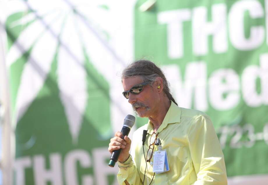 Hempfest founder Vivian McPeak speaks to the audience during the opening of Seattle's annual Hempfest at Myrtle Edwards Park on Friday, August 16, 2013. Photo: JOSHUA TRUJILLO, SEATTLEPI.COM