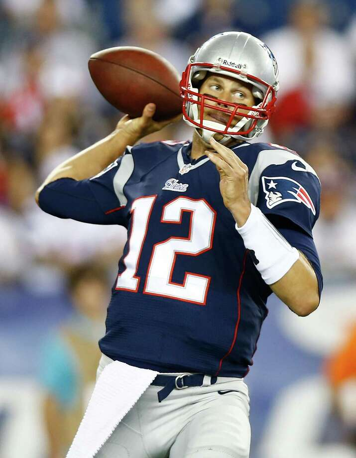 FOXBORO, MA - AUGUST 16:  Tom Brady #12 of the New England Patriots throws a pass against the Tampa Bay Buccaneers during the game at Gillette Stadium on August 16, 2013 in Foxboro, Massachusetts.  (Photo by Jared Wickerham/Getty Images) ORG XMIT: 173355139 Photo: Jared Wickerham / 2013 Getty Images