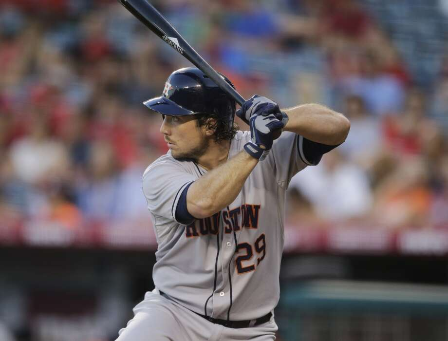 Brett Wallace of the Astros awaits a pitch against the Angels. Photo: Jae C. Hong, Associated Press