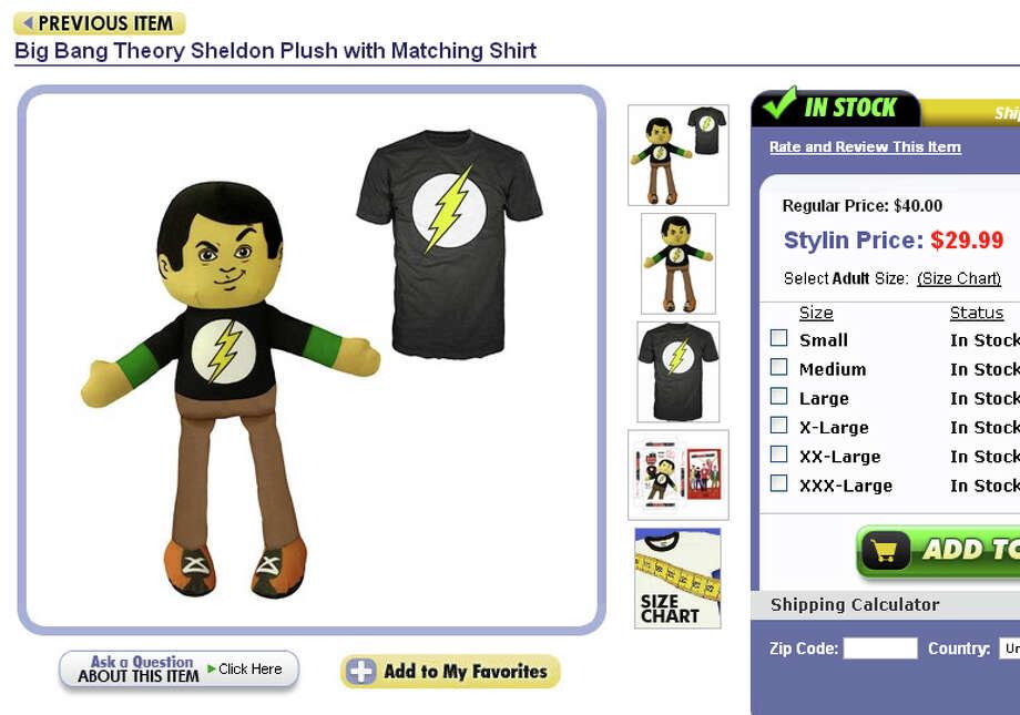 The Big Bang Theory plush doll with matching t-shirt.