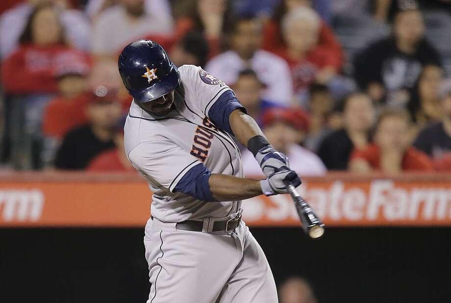 Aug. 16: Astros 8, Angels 2  Chris Carter hits a three-run home run against the Angels. Photo: Jae C. Hong, Associated Press