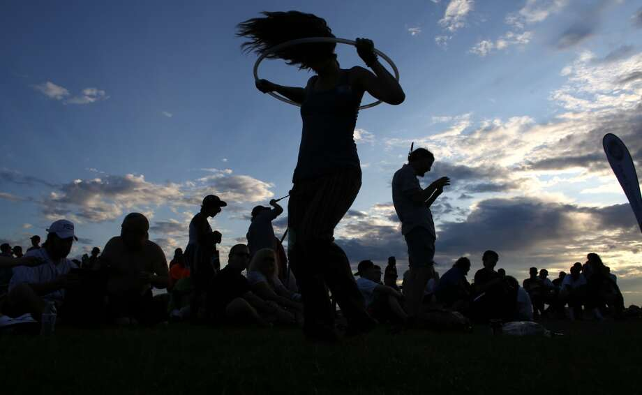 Shannon Mordhorst dances during the first day of Seattle's annual Hempfest at Myrtle Edwards Park on Friday, August 16, 2013. Photo: JOSHUA TRUJILLO, SEATTLEPI.COM
