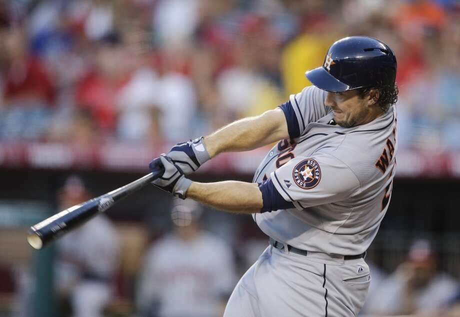 Aug. 16: Astros 8, Angels 2   Houston's bats finally woke up and knocked Los Angeles' pitchers around to thte tune of eight runs off 13 hits to reach the 40-win mark on the year.  Record: 40-81. Photo: Jae C. Hong, Associated Press
