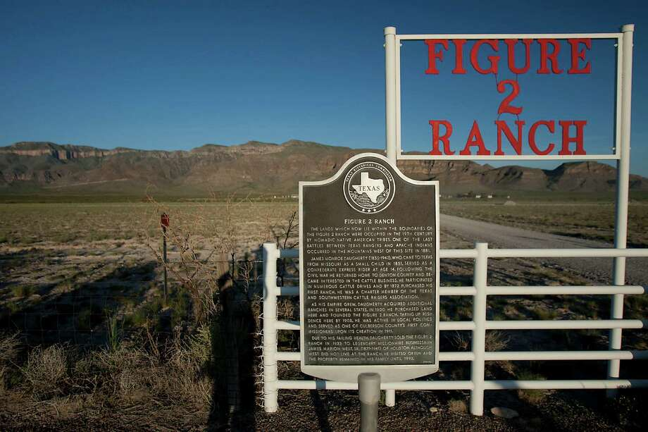 A view of the Figure 2 Ranch Sierra Diablo mountain range land owned by Amazon.Com founder Jeff Bezos where the 10,000 Year Clock is being constructed deep inside the mountain Monday, Aug. 12, 2013, in Van Horn. Photo: James Nielsen, Houston Chronicle / © 2013  Houston Chronicle