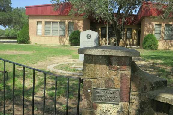 The Bigfoot school is empty these days, although it's available for parties and other gatherings in the small South Texas community.