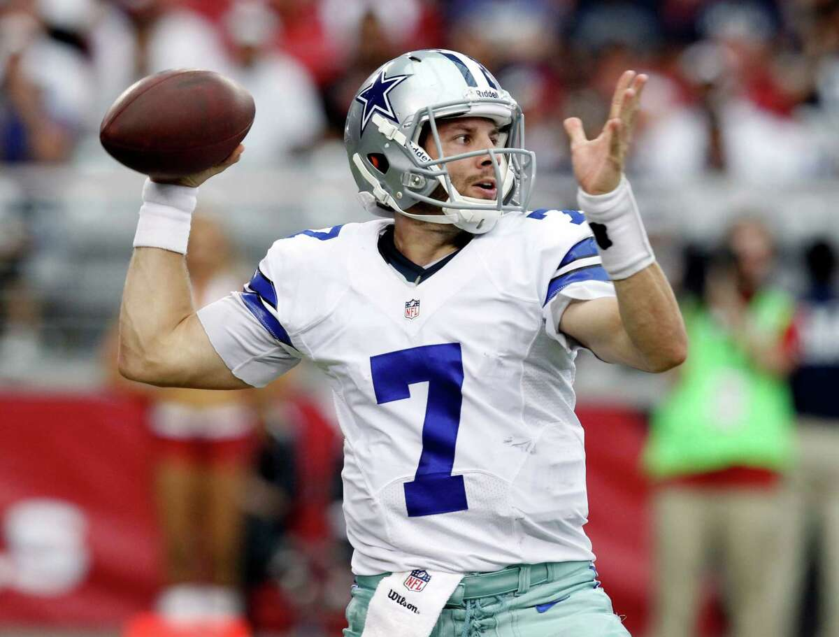 Dallas Cowboys quarterback Alex Tanney (7) throws against the Arizona Cardinals during the second half of a preseason NFL football game, Saturday, Aug. 17, 2013, in Glendale, Ariz. The Cardinals won 12-7.