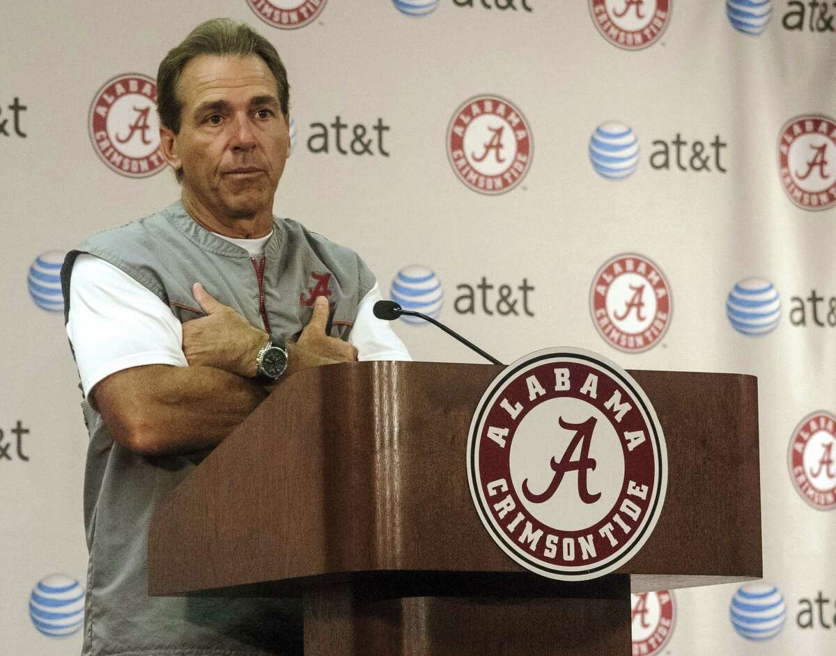 Nick Saban says it will be tough for Alabama to stay hungry.
